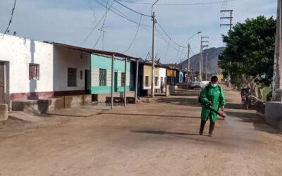 Colquisiri refuerza apoyo en labores de desinfección en los centros poblados de Huaral